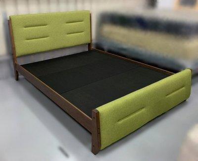 【台中二手家具】推薦西屯樂居中古全新家具賣場 ZF-905EC2*全新實木雙人床架*床頭櫃 床底 床墊 床邊櫃 寢具床組