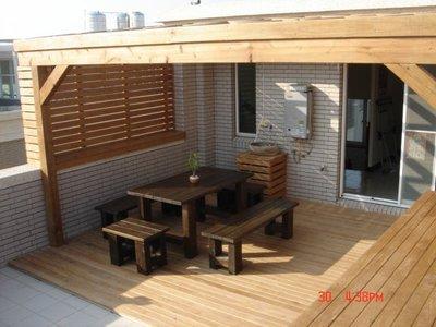 頂樓。戶外。實木。南方松、採光罩、 雨遮 、遮雨棚 、木作 工程