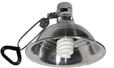 ZOOLIFE UVB 10.0 REPTILE SUN 省電型UVB 螺旋燈泡21W + 陶瓷鋁合金製燈罩L