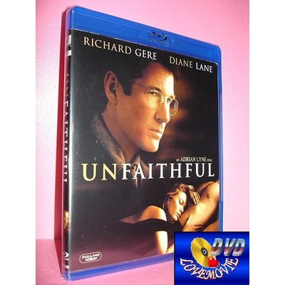A區Blu-ray藍光正版【出軌Unfaithful (2002)】[含中文字幕] DTS-HD版全新未拆《李察基爾》