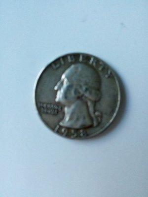 【什坊】 (1958年美國統總喬治華盛頓銀幣)24mm