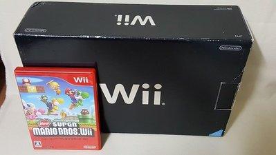 Wii 原廠黑色盒裝主機:日規-二手良品 未改機-附遊戲片