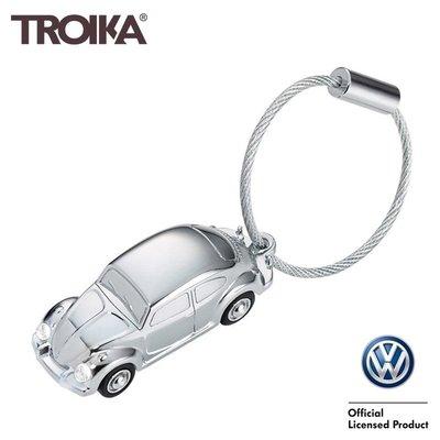 又敗家@TROIKA德國Volkswagen金龜車鑰匙圈KR16-40-CH金龜車手電筒鑰匙圈LED燈鑰匙圈Beetle鑰匙圈金龜車吊飾Bug吊飾Type 1