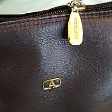 【七彩魚】ACCLAIM  深咖色優質牛皮小方包  單提把  側背包  晚宴包  質感