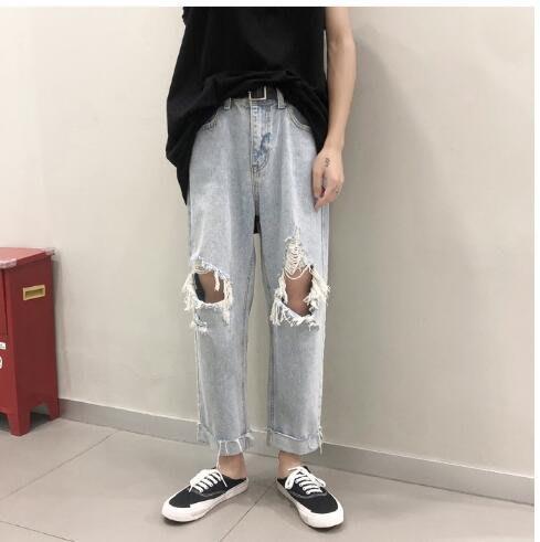 FINDSENSE X 男士休閑褲  運動褲 工作褲  九分褲牛仔 百搭 牛仔褲