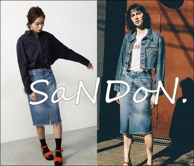 SaNDoN x MOUSSY 春夏新品入荷 高腰復古性感開衩牛仔窄裙包臀裙 SLY SNIDEL 韓妮 170520