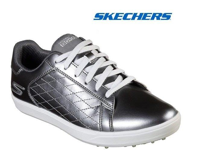 藍鯨高爾夫2019年SKECHERS GO GOLF DRIVE - SHINE #14881.PEW女用高爾夫球鞋-灰