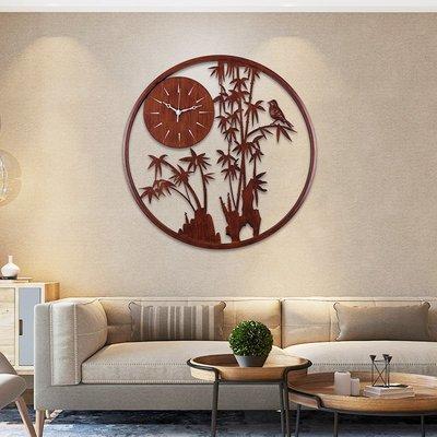 掛鐘 鬧鐘 墻壁鐘 裝飾鐘錶新中式掛鐘客廳家用藝術裝飾個性時尚時鐘掛墻中國風簡約創意鐘表