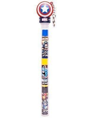 【Sunny Buy寶貝館】◎預購◎ 漫威英雄 Lip Smacker 美國隊長 三重奏 護唇膏 筆狀鑰匙圈