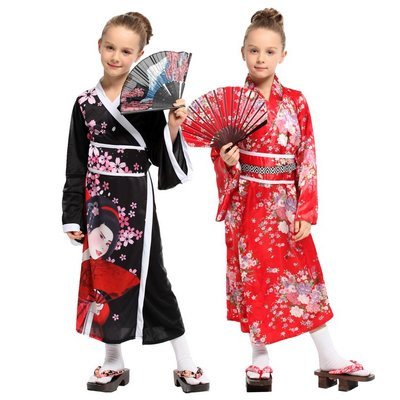 乂世界派對乂  萬聖節服裝/日本和服/日本女孩/華麗小女和服
