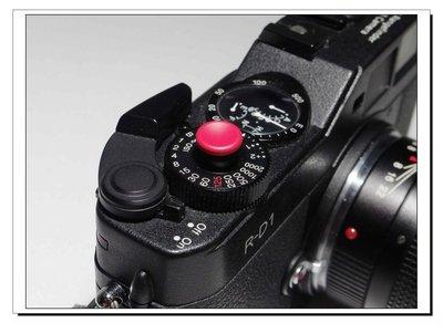 Match technical 快門鈕 全新品 (soft release) 1顆 紅色凹面 消光 (S14)