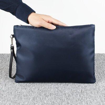 男士手拿包潮流手拿包休閒包文件包手包防水尼龍牛津布男包大容量