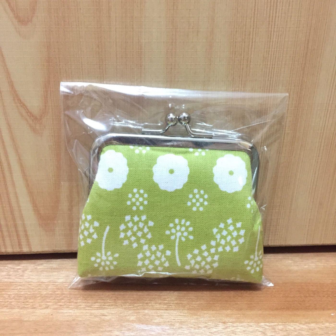 日本雜貨花布小零錢包,日本購入,zakka,日系,清新可愛綠色小花