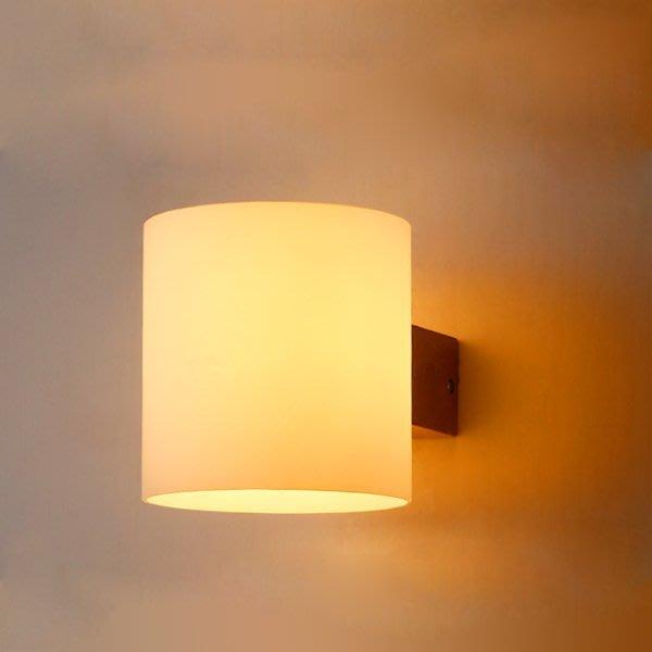 5Cgo【燈藝師】含稅會員有優惠 530772347480 個性創意實木壁燈現代簡約中式床頭燈日式客廳臥室過道陽臺牆壁燈
