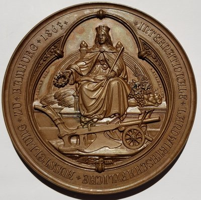 德國銅章 1863 German Hamburg Landwirtschaftl Bronze Medal