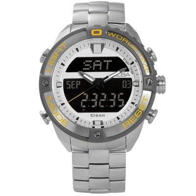 ALBA 劉以豪代言ACTIVE系列ALBA /  N021-X003Y.AZ4019X1 /  潮流活力風格雙顯不鏽鋼手錶 新北市