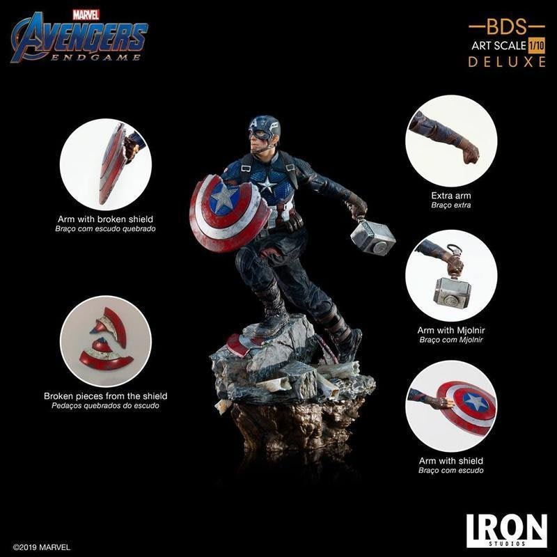 《瘋樂模玩》付尾款賣場 它人勿下 Iron Studios 1/10 復仇者聯盟 美國隊長 豪華版 雕像