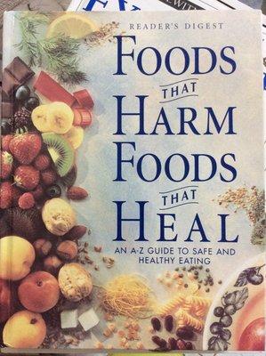 二手原文書 Readers Digest Foods That Harm Foods That Heal 讀者文摘好書