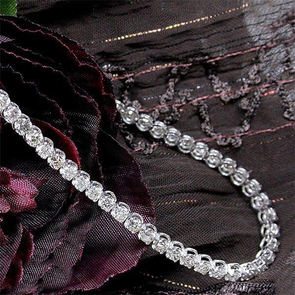 【LOVES鑽石批發】天然鑽石手鍊-8分花苞款-3.28ct-D color-H&A-18K金-另售鉑金/白金LOVES DIAMOND