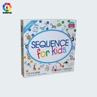 【桌游志】兒童益智認知學習Sequence for Kids英語動物序列遊戲卡牌