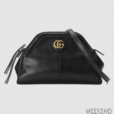 【WEEKEND】 GUCCI RE(BELLE) Small 小款 皮革 肩背包 黑色 524620
