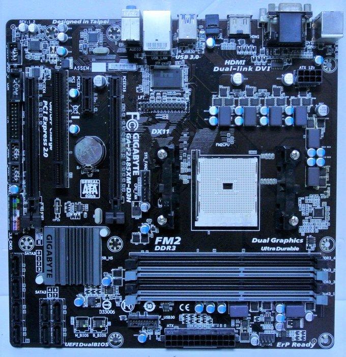 ~ 駿朋電腦 ~ 技嘉 GA-F2A85XM-D3H / FM2腳位 / DDR3 / 顯示 $1000
