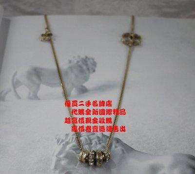 優買二手名牌店 CHANEL 復古金屬 潘朵拉款 水鑽 白色 珍珠 巴洛克 經典 項鍊 鑽練 長項鍊