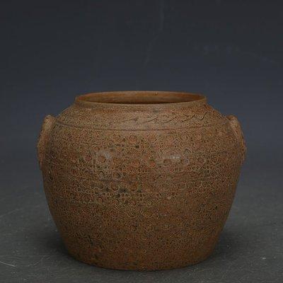 ㊣姥姥的寶藏㊣ 戰國越窯原始青瓷手工瓷雙系罐子  出土文物古瓷器古玩古董收藏品
