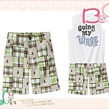 【B& G童裝】正品美國進口GYMBOREE Plaid Patchwork Short 腰可調拼布格子短褲7yrs