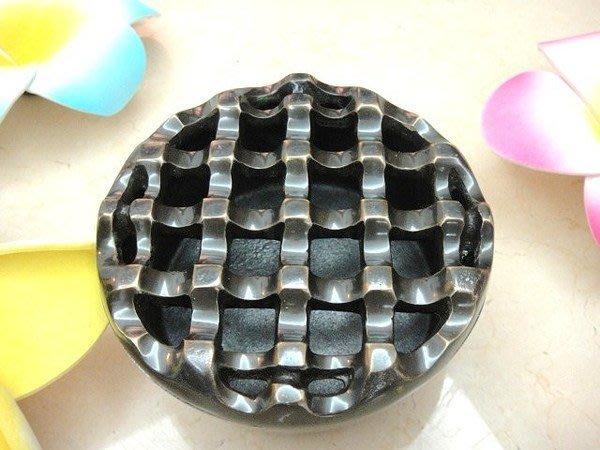 【永晴峇里島】巴里島風圓型金屬煙灰缸/菸灰缸,居家,民宿,飯店都好用-菸灰缸2