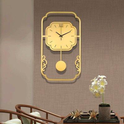 掛鐘 鬧鐘 墻壁鐘 裝飾鐘錶新中式純銅掛鐘客廳簡約時尚家用高檔掛墻時鐘臥室裝飾中國風鐘表