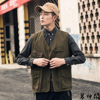 ☜男神閣☞M-5XL 多口袋 工作背心 實拍 秋季新款馬甲潮流背心 寬松夾克 ✨2019  男生衣著✨