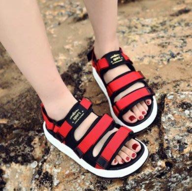 FINDSENSE MD歐美 時尚 潮 女 百搭  涼鞋  羅馬款  真皮涼鞋 平底涼鞋 沙灘鞋