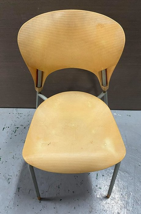 二手家具 台中 樂居全新中古傢俱買賣 F0406AJE 黃色餐椅 洽談椅 電腦椅 書桌椅 會客椅 2手各式家具拍賣