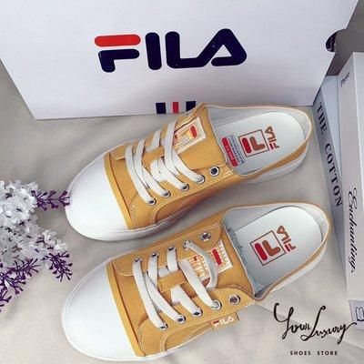 【Luxury】Fila Como Mule 懶人鞋 懶人拖 拖鞋 新款 白 黑 黃 綠 鞋帶款 男女鞋 韓國代購