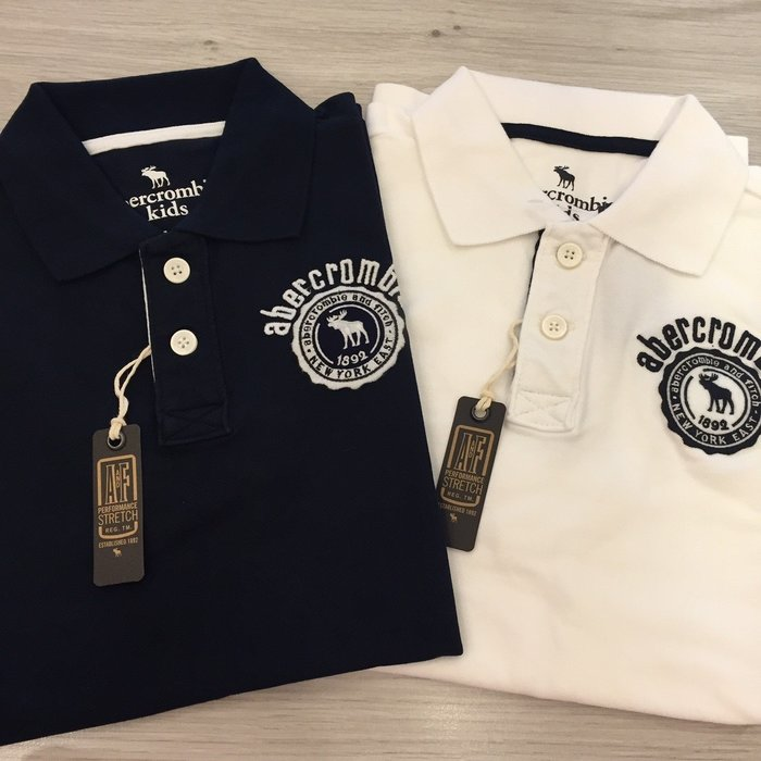 【現貨出清不退換】 A&F男童 polo衫 刺繡經典款 保證正品 歡迎來店參觀選購