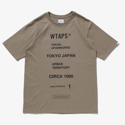 【日貨代購CITY】2020SS WTAPS CIRCA 標語 LOGO 短TEE 三色 目錄隱藏款 現貨