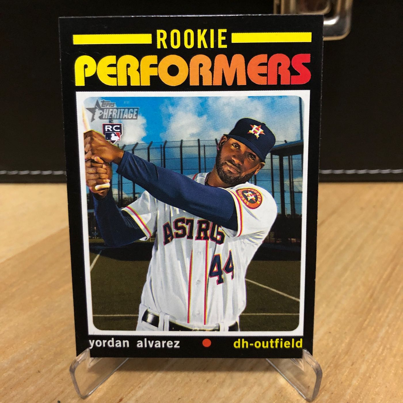 太空人新人 2020 Topps Heritage High Number Rookie Performers Yordan Alvarez - Houston