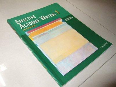 古集h016 ~EFFECTIVE ACADEMIC WRITING 1 無光碟 9780194309226