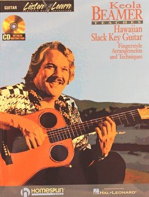 北投巴洛(晶濎音樂) Keola Beamer Hawaiian Slack Key Guitar 吉他樂譜書 附CD