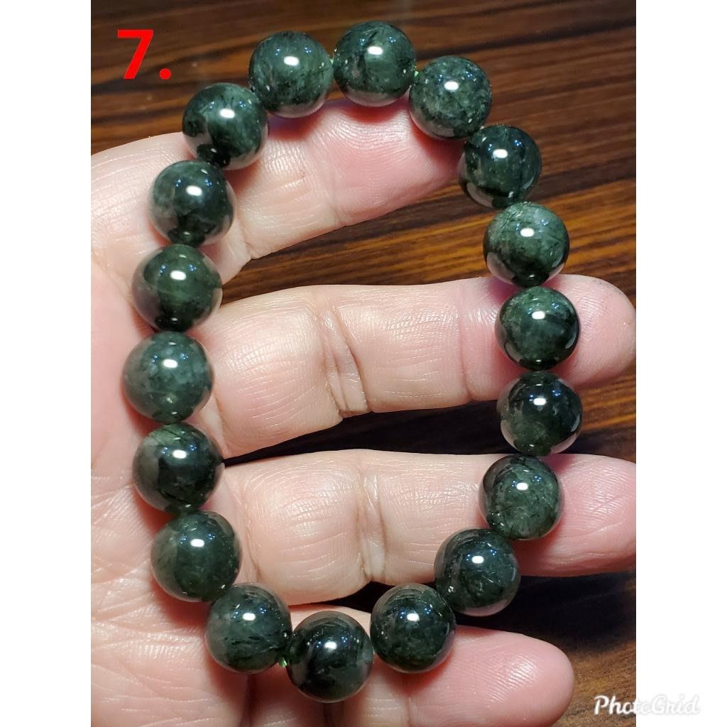 綠髮晶 發晶 手鍊 手環 手珠 11mm+ 天然 ❤水晶玉石特賣#C084-3