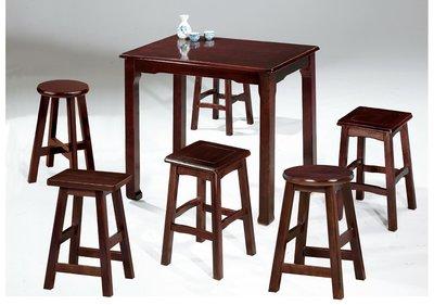 【南洋風休閒傢俱】餐廳家具系列-2x2尺唐式實木西餐桌 餐桌 餐廳桌 (金610-10)