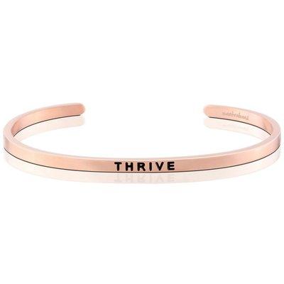 MANTRABAND THRIVE 滋養成長茁壯 發揮無限潛能 玫瑰金手環