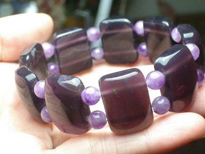 **天然原礦紫玉髓手排..高等上選礦料,,含禮盒裝