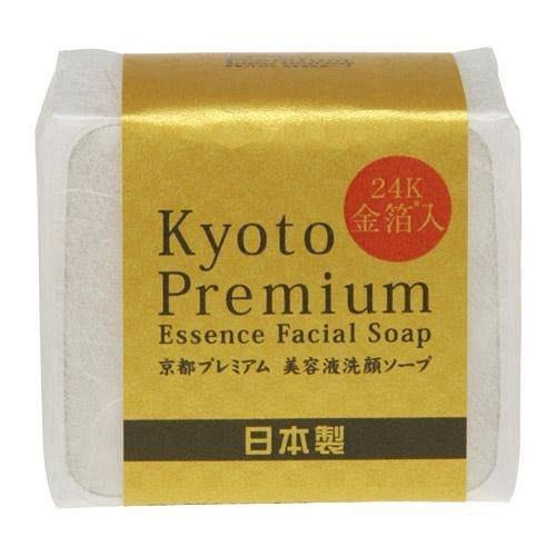日本製 金都24K金箔美容易洗顏皂