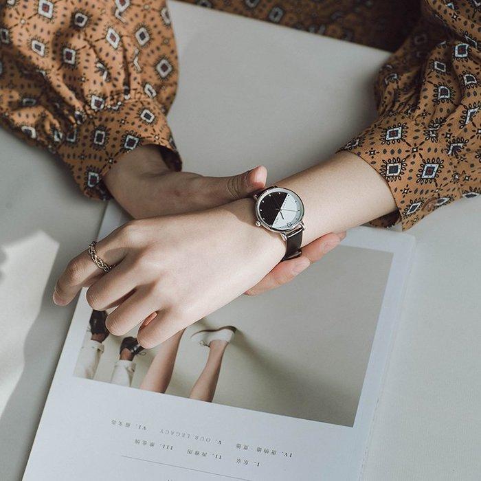 888利是鋪-珂紫kezzi手表女學生簡約休閑大氣學院風復古小清新皮帶防水女表#手錶