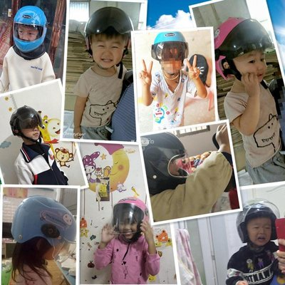 夏日衣館の 電動摩托車頭盔灰4女童男孩1-5歲3夏季2小孩寶寶7夏天6兒童寶寶安全帽超輕