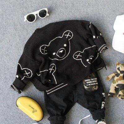 【Mr. Soar】 **清倉** D254 秋季新款 韓國style童裝男童小熊針織外套 現貨
