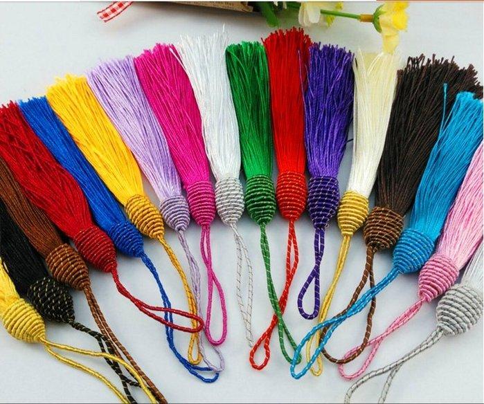 【螢螢傢飾】【螺旋流蘇10只/包】 中國結穗子,吊飾配件,復古裝飾,包包配飾,書籤diy。
