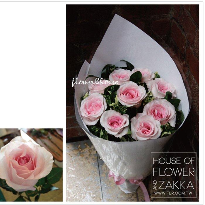 V05。特級粉玫瑰花束。台北西門花店。歡迎自取【Flower&House花藝之家】